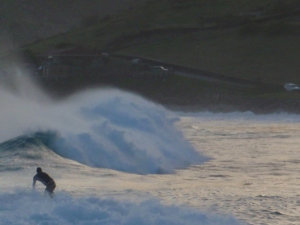 Surfing in Toiny, St Barths